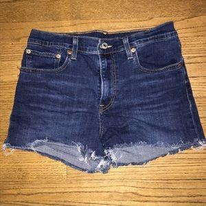 Levi's high waisted denim shorts